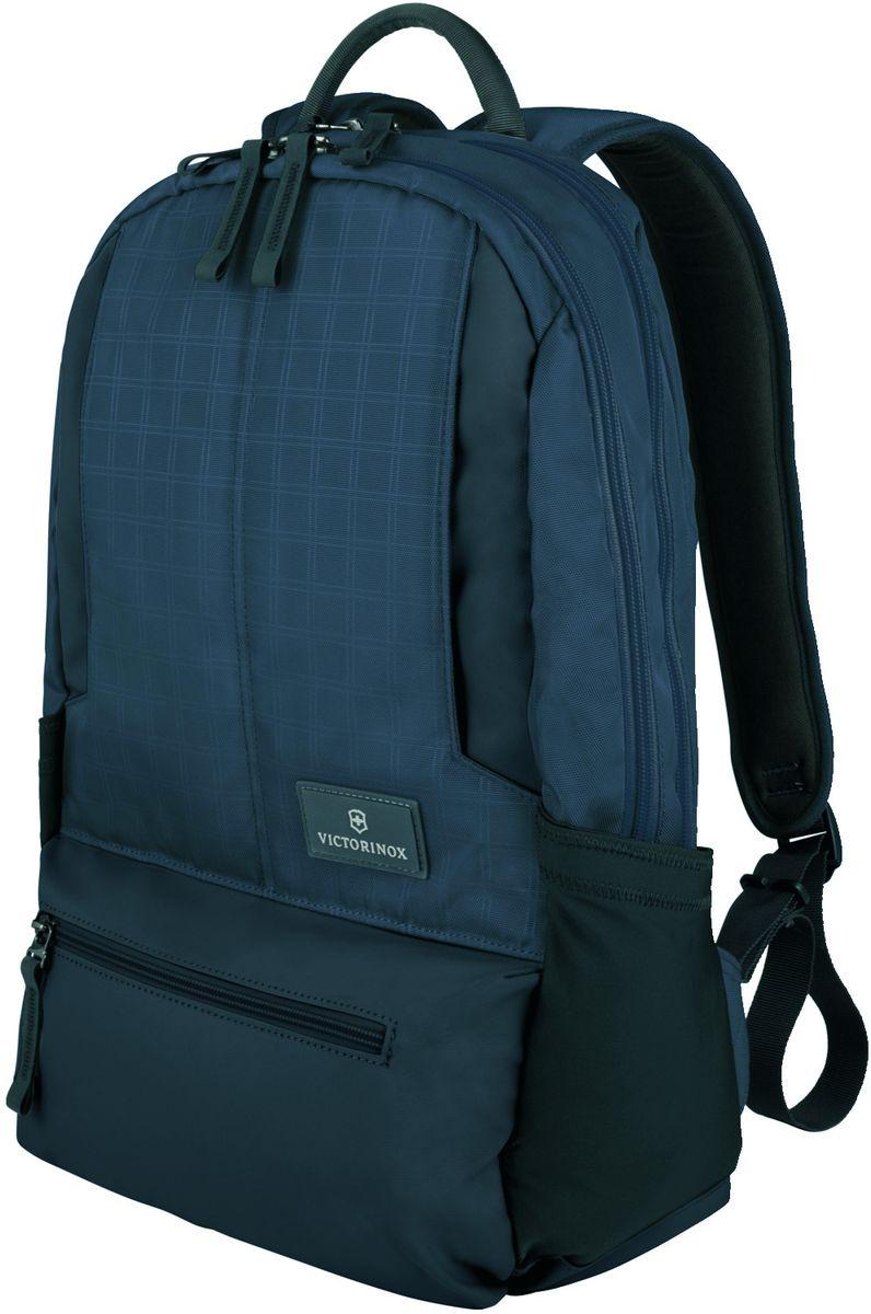 Рюкзак для ноутбука Victorinox Altmont 3.0 Laptop Backpack, цвет: синий, 25 л32388309Индивидуальность — это то,что отличает вас от любого другого человека,с которым вы сталкиваетесь на улице,в поезде,с которым вы общаетесь в городе.Каждый день вашей жизни — это уникальный опыт,котрый никогда больше не повторится.Коллекция Almont 3.0 создавалась с рачетом на индивидульность. РЮКЗАК ДЛЯ НОУТБУКА32x17x46 см0,7 кг25 л• Идеально приспособленный для ежедневных поездок на работу, этот прочный вместительный рюкзак прекрасно подойдёт для хранения ноутбука и других повседневных вещей• Внутренняя организационная секция включает в себя карман с откидной крышкой, петли для ручек, карман для небольших электронных устройств и карманы для хранения • На внешней части рюкзака расположены две застежки-молнии, обеспечивающие быстрый доступ для хранения мелких предметов, и многофункциональные растягивающиеся боковые карманы