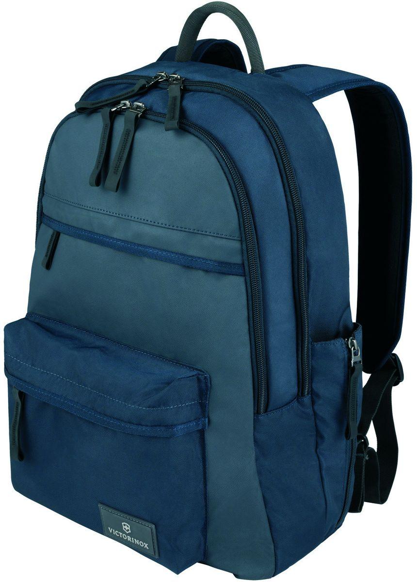 Рюкзак городской Victorinox Altmont 3.0 Standard Backpack, цвет: синий, 20 л + ПОДАРОК: нож-брелок Escort32388409Индивидуальность — это то,что отличает вас от любого другого человека,с которым вы сталкиваетесь на улице,в поезде,с которым вы общаетесь в городе.Каждый день вашей жизни — это уникальный опыт,котрый никогда больше не повторится.Коллекция Almont 3.0 создавалась с рачетом на индивидульность. VICTORINOXарт. 32388409РЮКЗАК ДЛЯ ВСЕГО САМОГО НЕОБХОДИМОГО30x15x44 см0,6 кг20 лХАРАКТЕРИСТИКИ И СВОЙСТВА• Внутренняя часть имеет двойные сетчатые карманы и двойные карманы для хранения вещей• Внешняя часть имеет два передних кармана на молнии и запатентованный боковой карман, идеально подходящий для бутылки с водой или зонтика• Мягкая задняя стенка и регулируемые плечевые ремни для максимального комфорта• Крепкая ткань корпуса Versatek™ на износостойкой нейлоновой основе плотностью 1680D