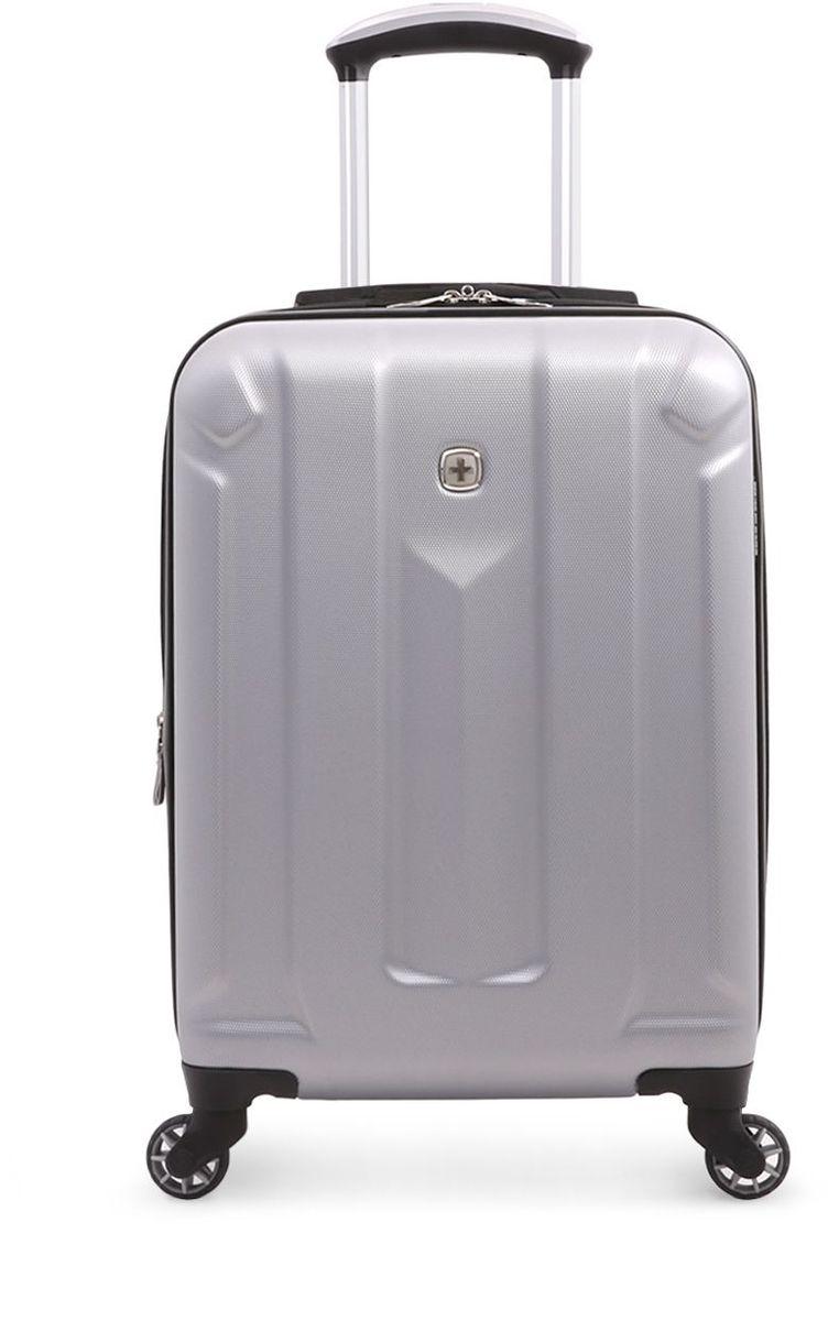 Чемодан Wenger Zurich III, цвет: светло-серый. 65734041546573404154Чемодан Wenger выполнен из ABS пластика и оформлен фирменной пластинкой. Изделие оснащено регулируемой выдвижной ручкой изавиационного алюминия с фиксатором, которая обеспечивает удобство перемещения чемодана. Также чемодан имеет удобные прочные ручки дляпереноски и 4 колеса, которые вращаются на 360 градусов, гарантируя максимальную манёвренность. Чемодан имеет два главных отделение,которые закрываются с помощью застежки-молнии. Внутри расположено два вместительных отделения, разделенные сетчатой тканевойперегородкой на молнии. Внутренний карман на молнии и эластичные ремни гарантируют надежную фиксацию вещей на месте. Вместимостьчемодана может быть дополнительно увеличена на 5 см.