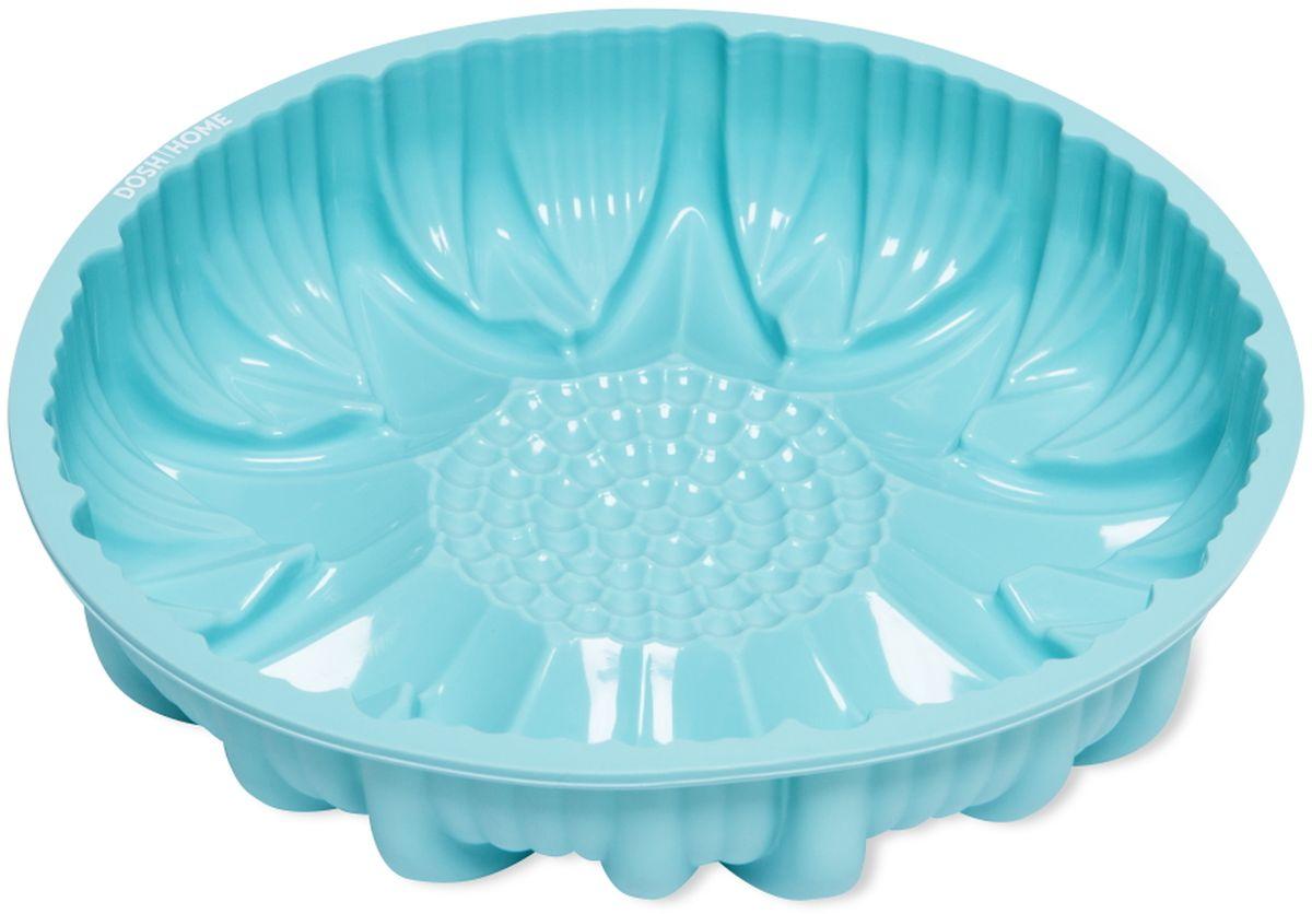 Форма для выпечки кекса Dosh l Home PAVO, силиконовая, цвет: голубой, диаметр 25 см300253Форма для выпечки кекса Dosh l Home PAVO, отлично подходит для приготовления сладких и соленых блюд. Форма предотвращает пригорание, поэтому по окончании выпекания продукт легко вынимается из формы. Изготовлено из термостойкого силикона высокого качества. Выдерживает температуру до 230 °C. Форму легко чистить, она не занимает много места. Форма подходит для приготовления пищи в газовых, электрических и конвекторных печах, можно мыть в посудомоечной машине.Диаметр: 25 см.