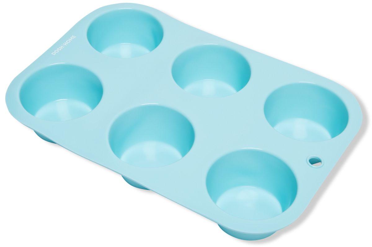 Форма для выпечки мини-кексов Dosh l Home PAVO, 6 ячеек300256Форма для выпечки мини-кексов Dosh l Home PAVO изготовлена из термостойкого силикона высокого качества.Отлично подходит для приготовления сладких и соленых блюд. Форма предотвращает пригорание, поэтому по окончании выпекания продукт легко вынимается из формы. Форму легко чистить, она не занимает много места. Форму можно мыть в посудомоечной машине.