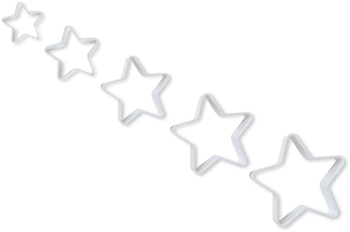 Формочки для вырезания печенья Dosh l Home PAVO. Звездочки, 5 шт300271Формочки Dosh l Home PAVO прекрасно подходят для легкого вырезания печенья 5 разных размеров из песочного, пряничного теста и теста для печенья. Изготовлены из высококачественного пластика.