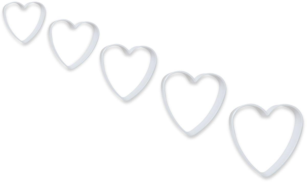 Формочки для вырезания печенья Dosh l Home PAVO. Сердечки, 5 шт. 300272300272Формочки Dosh l Home PAVO прекрасно подходят для легкого вырезания печенья 5 разных размеров из песочного, пряничного теста и теста для печенья. Изготовлены из высококачественного пластика.