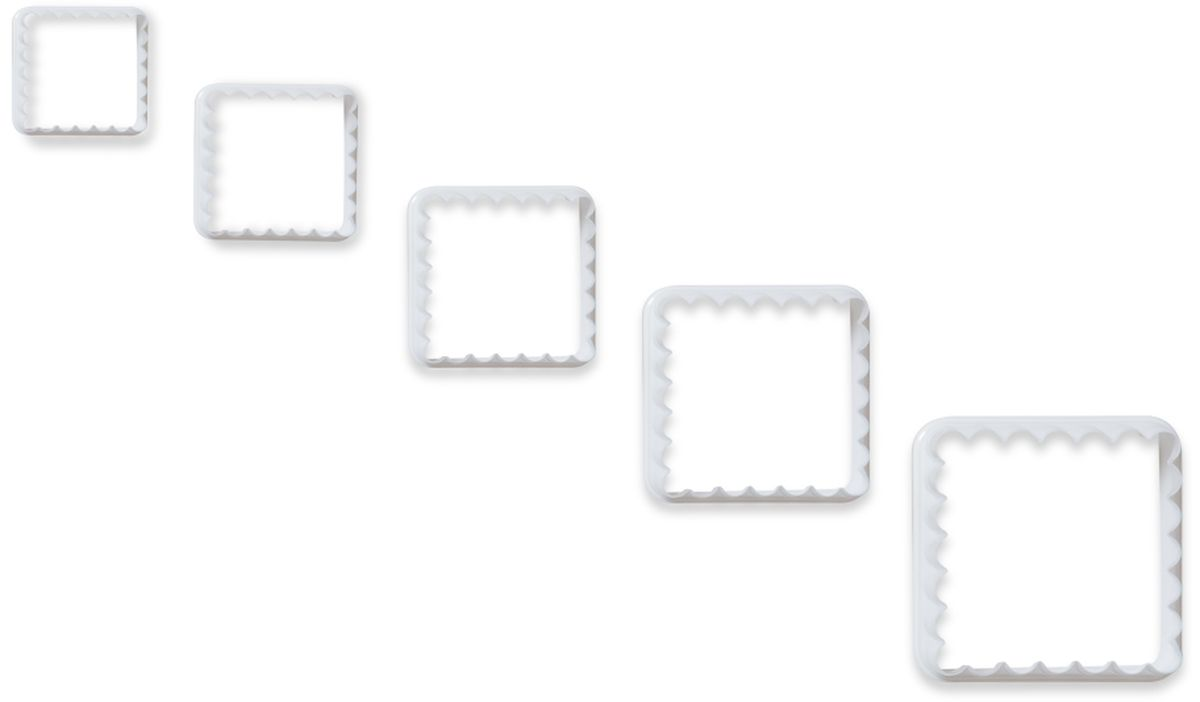Формочки для вырезания печенья Dosh l Home PAVO, квадратные, 5 шт. 300273 кисточка кулинарная dosh l home pavo цвет голубой