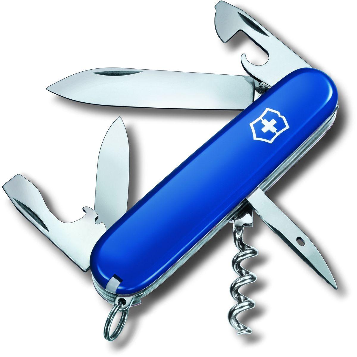 Нож перочинный Victorinox Spartan, 12 функций, цвет: синий, длина 9,1 см1.3603.2Перочинный складной нож Victorinox Spartan изготовлен из высококачественной нержавеющей стали. Ручка, выполненная из прочного пластика, обеспечивает надежный и удобный хват.Хорошее качество, надежный долговечный материал и эргономичная рукоятка - что может быть удобнее на природе или на пикнике!Функции ножа:- Большое лезвие.- Малое лезвие.- Штопор.- Консервный нож с малой отверткой (также для винта с крестообразным шлицем).- Открывалка для бутылок.- Отвертка.- Инструмент для снятия изоляции.- Шило, кернер.- Кольцо для ключей.- Пинцет.- Зубочистка.