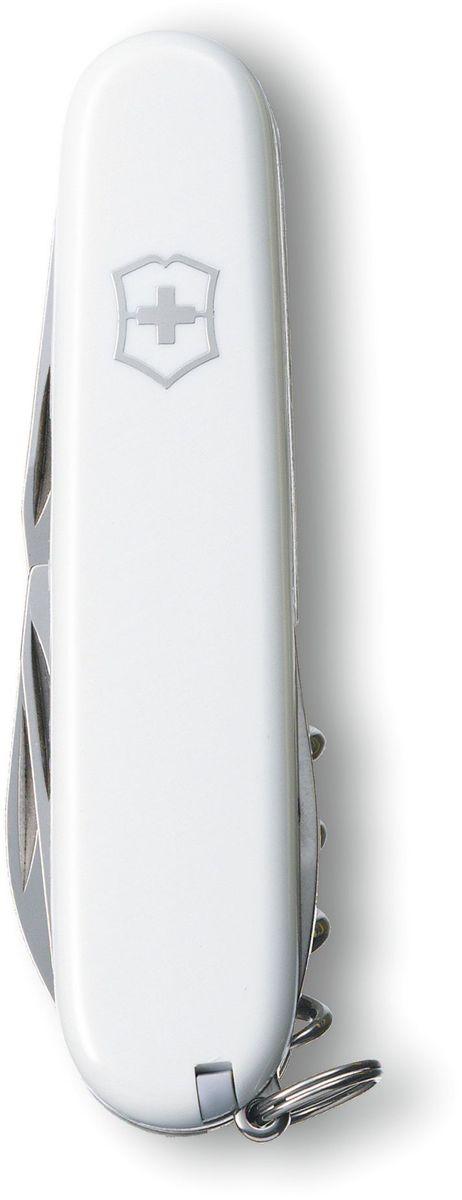 Нож перочинный Victorinox Spartan, 12 функций, цвет: белый, длина 9,1 см1.3603.7Перочинный складной нож Victorinox Spartan изготовлен из высококачественной нержавеющей стали. Ручка, выполненная из прочного пластика, обеспечивает надежный и удобный хват.Хорошее качество, надежный долговечный материал и эргономичная рукоятка - что может быть удобнее на природе или на пикнике!Функции ножа:- Большое лезвие.- Малое лезвие.- Штопор.- Консервный нож с малой отверткой (также для винта с крестообразным шлицем).- Открывалка для бутылок.- Отвертка.- Инструмент для снятия изоляции.- Шило, кернер.- Кольцо для ключей.- Пинцет.- Зубочистка.