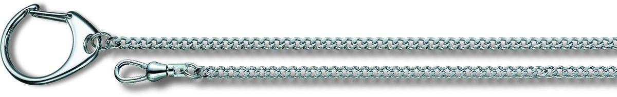 Цепочка Victorinox, с кольцом для ключей и карабином, цвет: серый металлик, длина 40 см цепочка