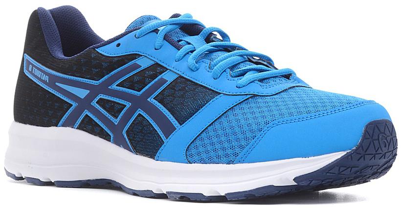 Кроссовки для бега мужские Asics Patriot 8, цвет: голубой, синий. T619N-4549. Размер 12 (45)