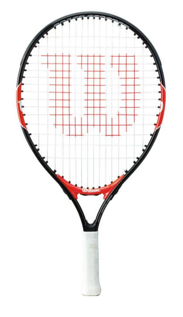 Ракетка теннисная детская Wilson Roger Federer 19WRT200500Ракетка теннисная детская Wilson Roger Federer 19 рассчитана на юных спортсменов 2-4 лет и ростом ниже 105 см. Ракетка изготовлена из алюминия, благодаря этому она легкая и прочная.