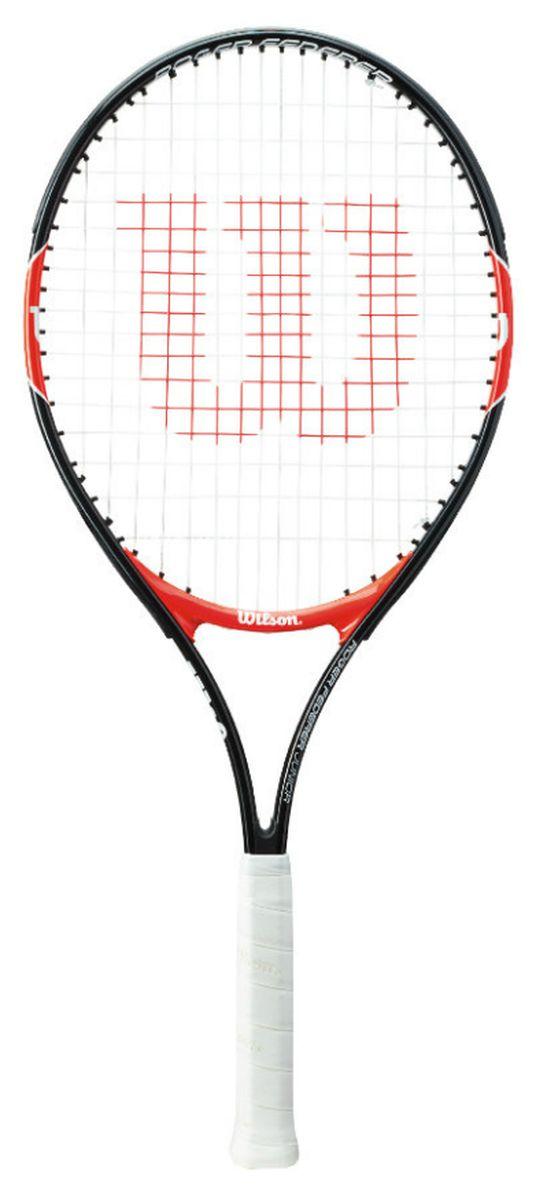 Ракетка теннисная детская Wilson Roger Federer 25WRT200800Ракетка Wilson Roger Federer 25 рассчитана на юных спортсменов 9-10 лет и ростом 135-145 см. Чаще всего детские ракетки для большого тенниса делают из алюминия. Это происходит по двум причинам: инвентарь получается легким по весу и его стоимость не выходит за разумные пределы.