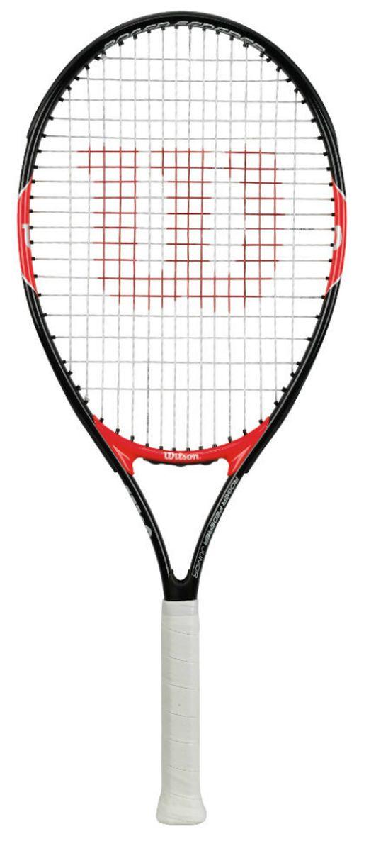 Ракетка теннисная детская Wilson Roger Federer 26WRT200900Ракетка теннисная детская Wilson Roger Federer 26 рассчитана на юных спортсменов, как правило старше 11 лет, ростом выше 145 см. Ракетка сделана из алюминия, благодаря этому она легкая и прочная.