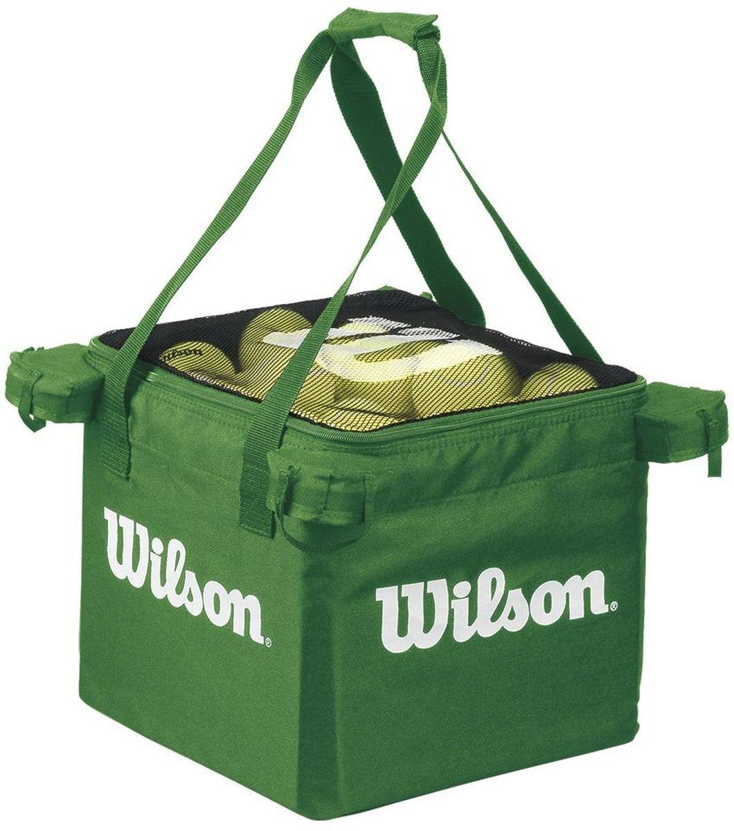 Корзина для мячей Wilson Teaching Cart, цвет: лаймWRZ541200Универсальная корзина для тренировок. Поможет оптимизировать тренировочный процесс. Может использоваться как основная корзина для занятий с детьми в программе Теннис до 10 лет на малых кортах, например Зелёными мячами.