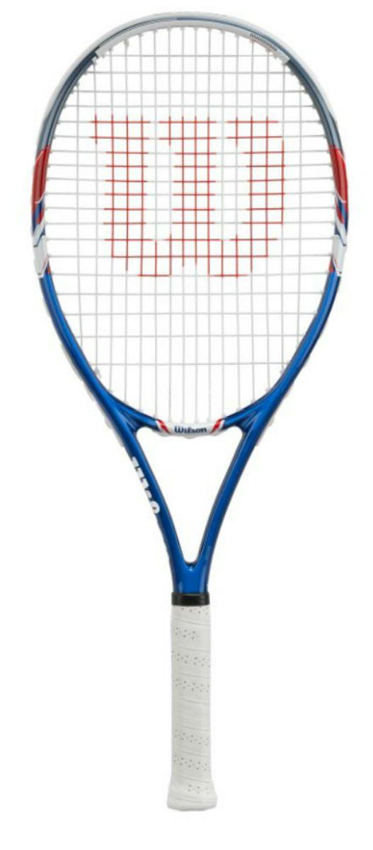 Ракетка теннисная Wilson US Open, ручка 2WRT32560U3Ракетка Wilson US Open - подойдет любому фанату тенниса. Данная ракетка обладает следубщими характеристиками: Великая мощь в каждом ударе за счёт применения технологии - Double Hole, а быстрый замах и простое управление за счёт Arc 2 Technology.