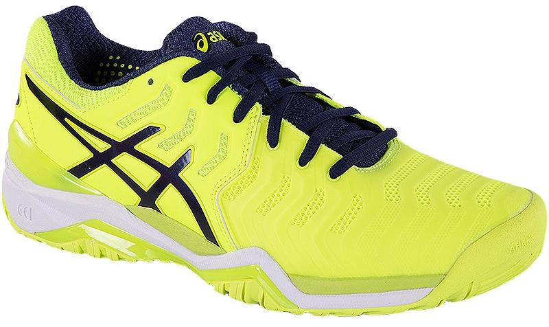 Кроссовки для тенниса мужские Asics Gel-Resolution 7, цвет: желтый. E701Y-0749. Размер 11H (44,5)E701Y-0749Гордитесь своей скоростью и мощью на теннисном корте? Тогда вам просто необходима обувь, которая подчеркнет достоинства вашего стиля! Встречайте мужские теннисные кроссовки Asics Gel-Resolution 7! Усовершенствованная версия самых популярных моделей в этой категории. В этих кроссовках корт будет ваш! Благодаря долговечной внешней подошве Ahar вы почувствуете непревзойденную свободу и гибкость при смене направления и сможете с легкостью перебегать с одного края корта к другому и отражать подачу за подачей за доли секунды. Будьте во время матча на вершине своих способностей. Ощутите небывалую устойчивость и защиту в передней части ступни благодаря усиленными союзками. Средняя часть подошвы SpEVA и амортизаторы Asics Gel делают каждый шаг мягче, даря оптимальный комфорт. Кроссовки Gel-Resolution 7 созданы для того, чтобы служить вам верой и правдой как можно дольше. Шероховатые области выдерживают еще большее воздействие, позволяя побеждать игра за игрой.