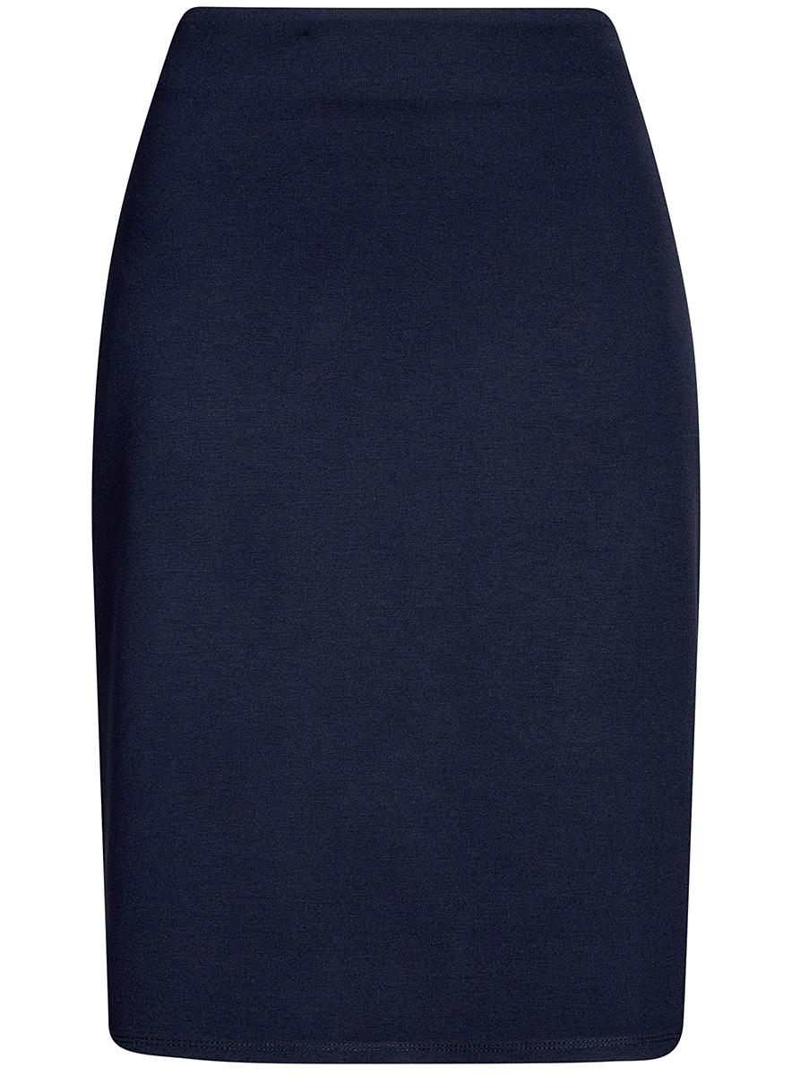 Юбка oodji Collection, цвет: темно-синий. 24101048B/45176/7900N. Размер S (44)24101048B/45176/7900NКлассическая юбка-карандаш выполнена из высококачественного материла. Сбоку застегивается на потайную застежку-молнию.