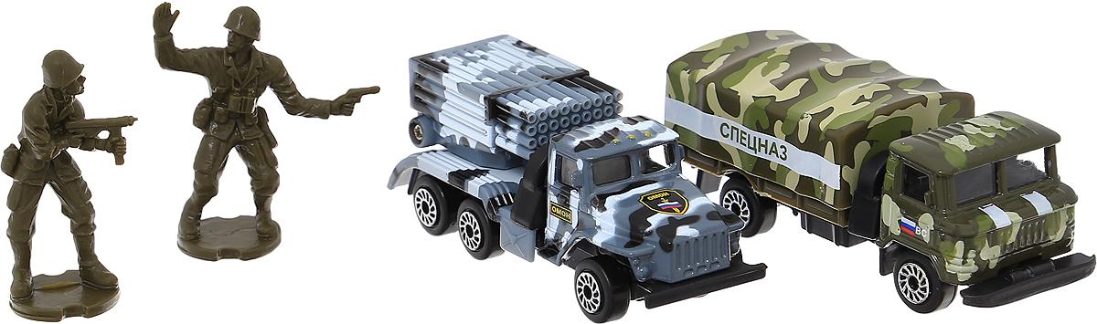 ТехноПарк Набор машинок Военная техника Омон и Спецназ технопарк набор машинок строительная техника экскаватор трактор 2 шт