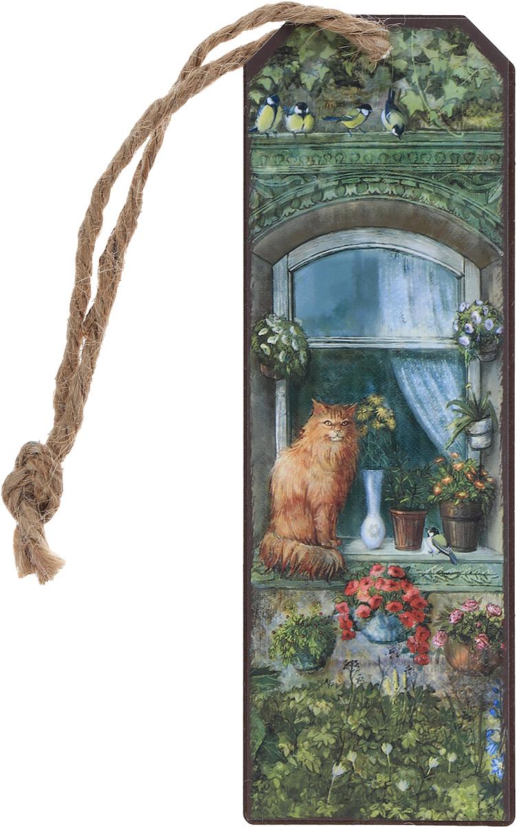 Magic Home Закладка декоративная для книг Котик на окне