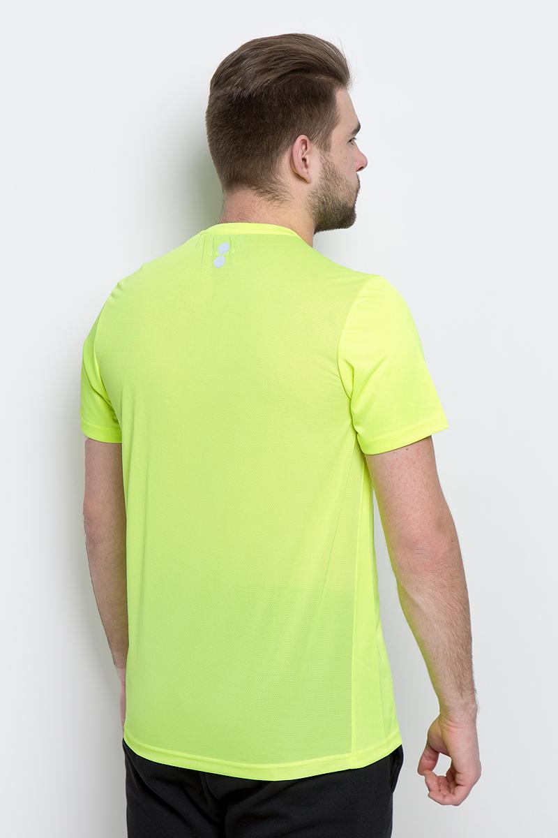 Мужская футболка Reebok выполнена из полиэстера и полиэфира. Облегающий крой отлично подходит для интенсивных тренировок и совершенно не стесняет движения. У модели классический круглый ворот и короткие стандартные рукава, спереди - вставка со спартанским принтом.