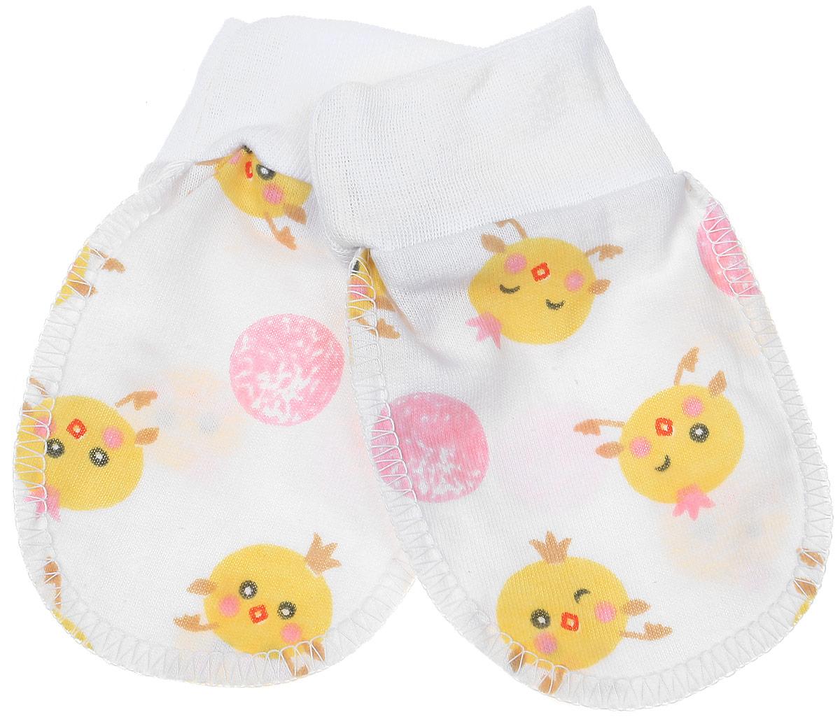 Рукавички Чудесные одежки, цвет: белый, розовый, желтый. 5906. Размер 625906Рукавички для младенцев Чудесные одежки изготовлены из натурального хлопка. Они не раздражают нежную кожу ребенка. Широкие мягкие резинки не стягивают ручки. Швы выполнены на лицевую сторону.