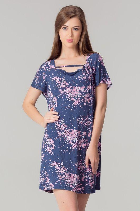 Туника женская Tesoro, цвет: темный виноград. 401Т1. Размер 46 женская туника платье дана размер 54