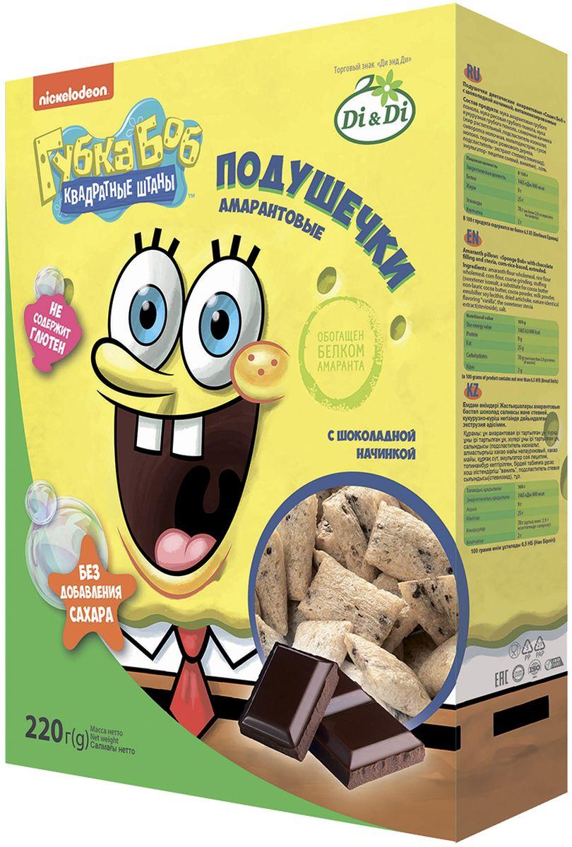 Губка Боб подушечки амарантовые с шоколадной начинкой, витаминизированные, 220 г, Губка Боб (Spanch Bob)