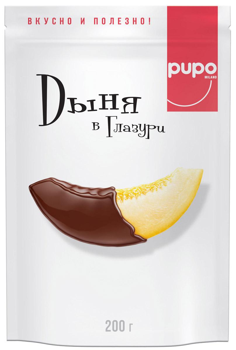 Pupo конфеты Дыня в глазури, 200 г14.3523PUPO - это кусочки дыни шаренте, вяленые под лучами жаркого солнца. Французские дыни этого сорта отличаются интенсивностью вкуса и аромата. Они содержат много каротина и других полезных микроэлементов. Некоторые из них, такие как железо, усваиваются лучше всего именно при употреблении этих дынь. Прошедшие натуральную сушку вяленые кусочки дыни - полезное лакомство. Они заряжают энергией и отличным настроением.
