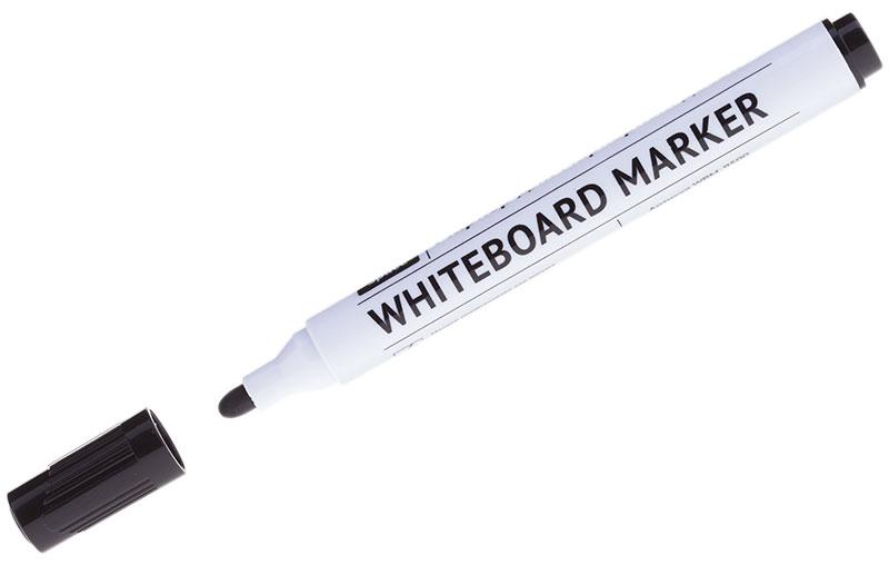 OfficeSpace Маркер для доски цвет черныйWBM_9500Маркер OfficeSpace предназначен для письма на магнитно-маркерных досках. Имеет закругленный пишущий узел. Толщина линии - 2,5 мм. Чернила на спиртовой основе легко стираются сухой губкой для досок.Хранить с закрытым колпачком.