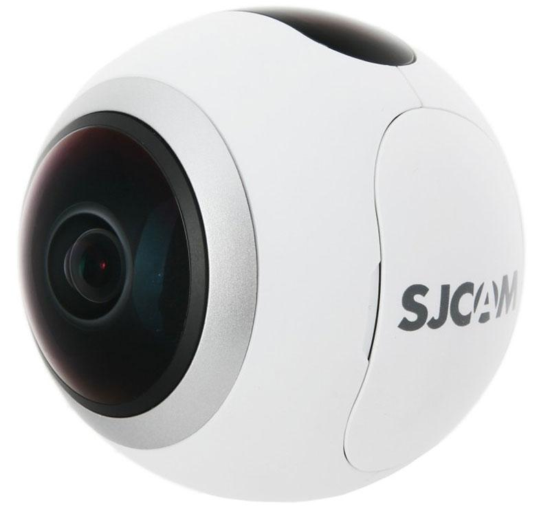 SJCAM SJ360, White экшн-камераSJ360 WhiteХотите посмотреть на мир вокруг на 360 градусов, но не знаете как это сделать? В этом вам поможет компактная видеокамера SJCAM SJ360.Основная особенность данной модели вытекает из названия: камера снимает на 360 градусов, что позволяет видеть в отличном качестве все, что происходит вокруг вас. Достигнуть этого позволяет чипсет Novatek 96660, благодаря которому камера снимает в высоком разрешении без ущерба для качества изображения. Датчик 2K Sony CMOS дает возможность использовать разрешение изображения 4032x3024. Разрешение видео составляет 2048x2048 (2K). Линза с 220° SuperViow с углом обзора рыбий глаз позволяет снимать на 360° по горизонтали и на 220° по вертикали. Она также имеет 6 слоев, что позволяет камере успешно устранять блики.Вы совершенно точно найдете для себя подходящий режим сьемки, который позволит сделать ваши фото и видео необычными и интересными. Среди режимов есть: панорама, сфера, полусфера, рыбий глаз, цилиндр и др.Благодаря быстросъёмному аккумулятору увеличенной емкости на 1300 мАч, вы сможете использовать камеру до 2 часов в режиме сьемки, а так же в сложных погодных условиях, в том числе при низких температурах.Благодаря новому, современному приложению SJCAM App, которое вы можете установить на телефонах с операционными системами Android и iOS можно быстро и без труда размещать снятые фото и видео файлы в популярных социальных сетях, например в таких как: Facebook и Instagram.Благодаря встроенному в камеру SJ360 модулю WI-FI и приложению SJCAM App, передача отснятых файлов с камеры на мобильное устройство возможно буквально с помощью нескольких нажатий!Диагональ дисплея: 0,83Емкость аккумулятора: 1300 мАч