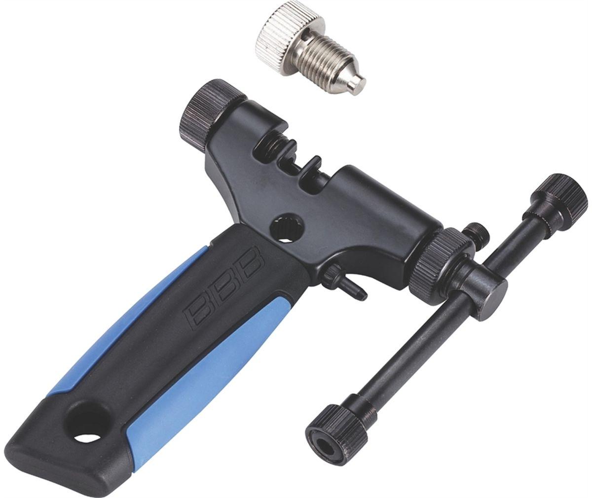 Выжимка цепи BBB ProficonnectBTL-55Профессиональная выжимка цепи.Подходит для всех цепей, включая 11 скоростные.Полностью регулируется под ширину цепи.Удобная резиновая ручка.В комплекте деталь для цепи Campagnolo 11 скоростей.Запасной пин в комплекте.