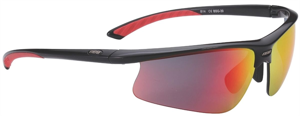 Очки солнцезащитные BBB Winner PC Smoke, цвет: черный, красный очки солнцезащитные велосипедные bbb 2018 summit pc smoke mlc red lens цвет красный черный