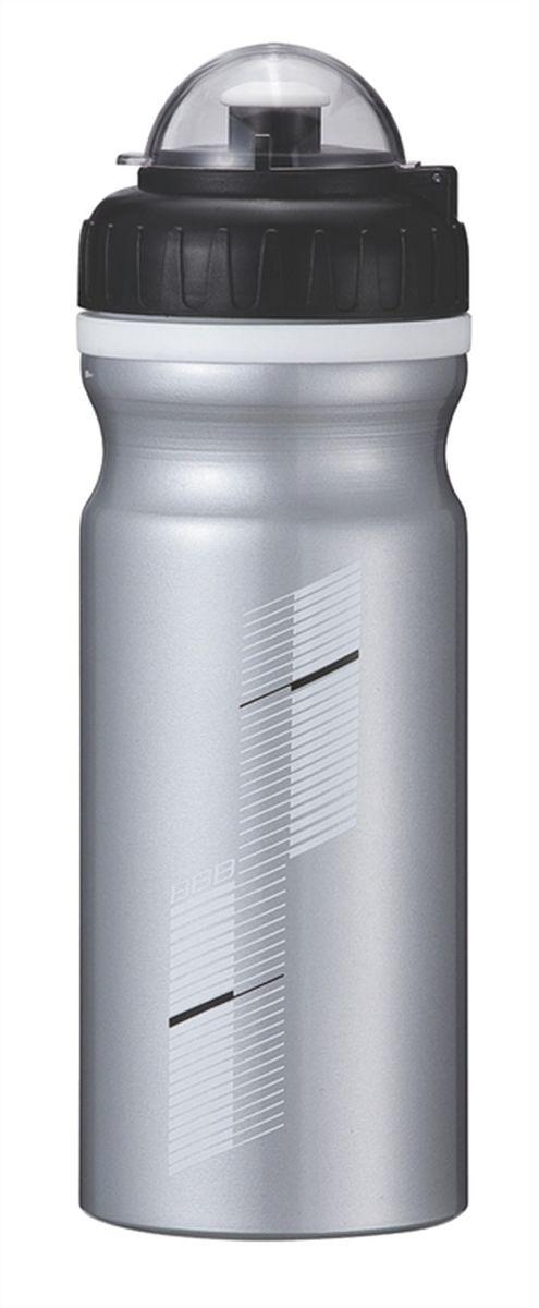 Бутылка для воды BBB AluTank, велосипедная, цвет: серебристый, черный, 680 мл бутылка для воды sistema hydrate трио цвет фиолетовый 480 мл 820