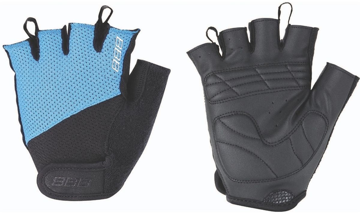 Перчатки велосипедные BBB Chase, цвет: черный, синий. BBW-49. Размер LBBW-49Комфортные летние перчатки BBB Chase предназначены для более удобного катания на велосипеде. Максимальная вентиляция обеспечивается за счет тыльной стороны перчаток, выполненной из сетчатого материала. Также имеется вставка для удаления влагии пота. Ладонь из материала Serino с гелевыми вставками для большего комфорта. Застежки велкро (Система WristLock) надежно фиксируют перчатки на руке.
