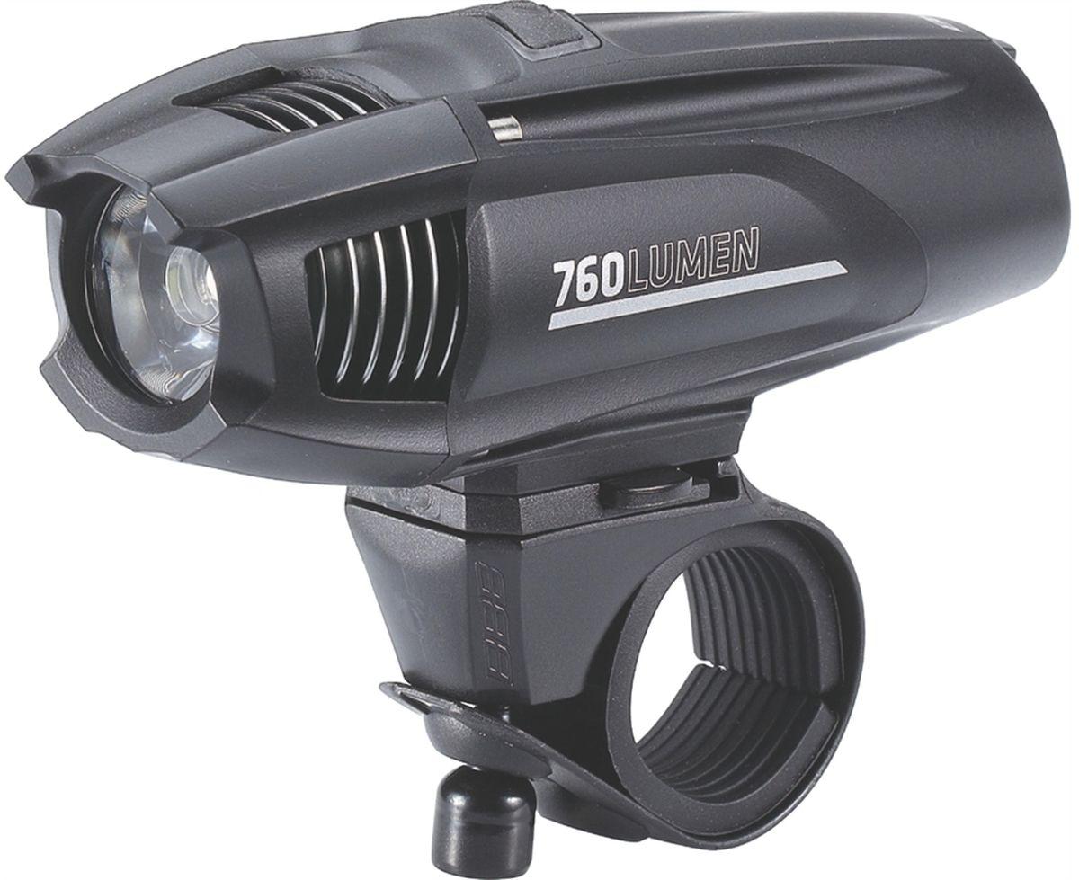 Фонарь велосипедный BBB Strike 760 Lumen LED, передний фонарь велосипедный bbb spy 17 lumen передний цвет черный 2 x cr2032