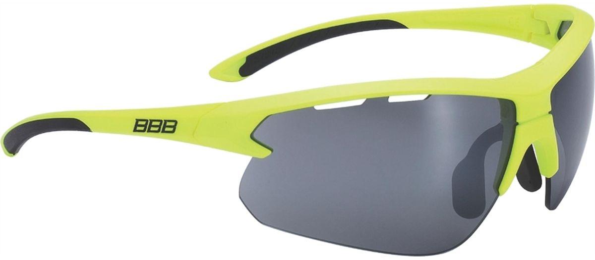 Очки солнцезащитные BBB Impulse Black Temple Tips PC Smoke Flash Mirror Lenses, цвет: желтый