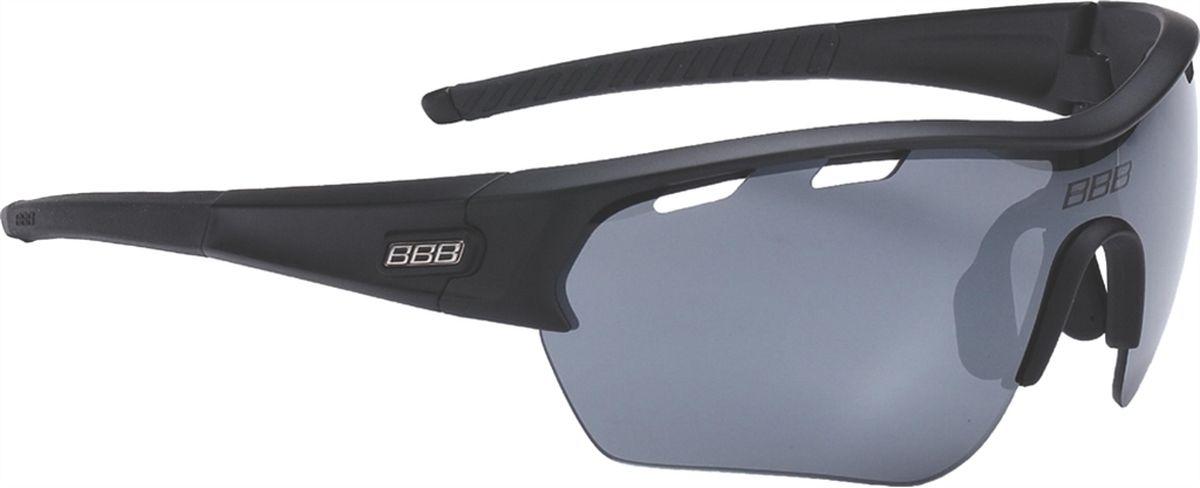 Очки солнцезащитные BBB Select XL PC Smoke Flash Mirror XL Lens Black Tips, цвет: черный очки солнцезащитные велосипедные bbb 2018 summit pc smoke mlc red lens цвет красный черный