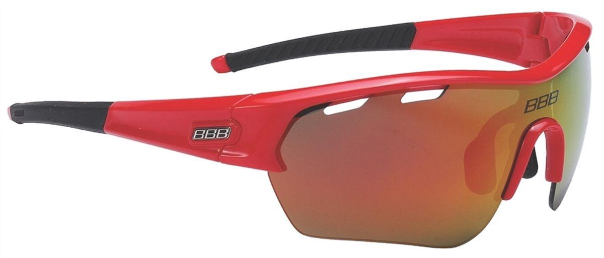 Очки солнцезащитные BBB Select XL MLC Red XL Lens Black Tips, цвет: красный