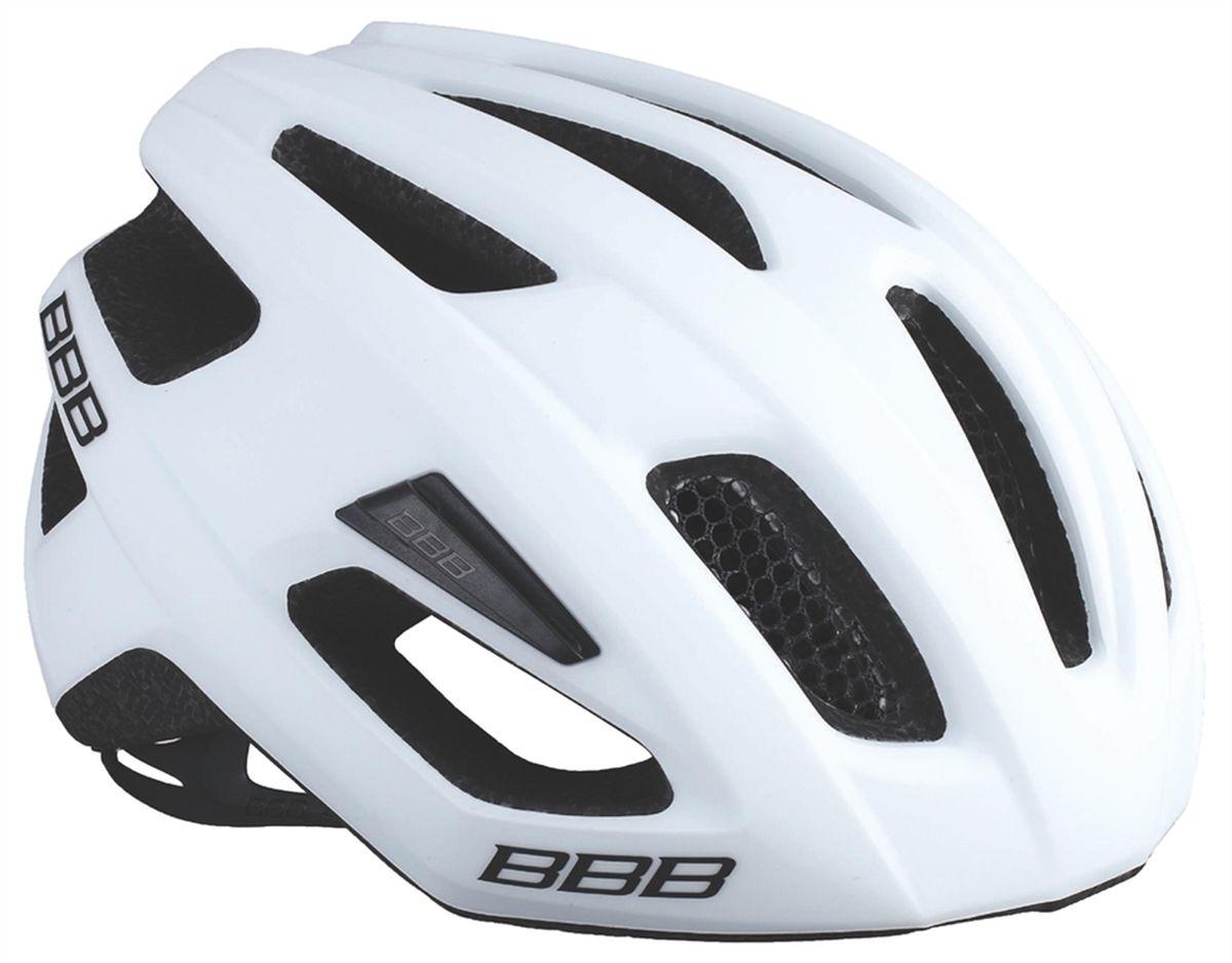 Шлем летний BBB Kite, цвет: белый, черный. Размер MBHE-29Если вы в поисках по-настоящему универсального шлема, то BBB Kite - именно то, что нужно. Продуманная конструкция предельно функциональна. Катаетесь ли вы по шоссе, или по трейлам - с BBB Kite вы всегда в безопасности. Низкопрофильная конструкция обеспечивает дополнительную защиту наиболее уязвимых участков головы. Поликарбонатная оболочка обеспечивает наилучшую защиту. Интегрированная конструкция.14 вентиляционных отверстий.Отверстия для вентиляции в задней части шлема для оптимального распределения потоков воздуха.Сетка для защиты от залетающих в шлем насекомых.Настраиваемые ремешки для максимально комфортной посадки.Простая в использовании система настройки TwistClose.Съёмный козырёк со скрытым креплением.Съемные мягкие накладки с антибактериальными свойствами и возможностью стирки.Светоотражающие наклейки на задней части шлема.Обхват головы: 55-58 см.