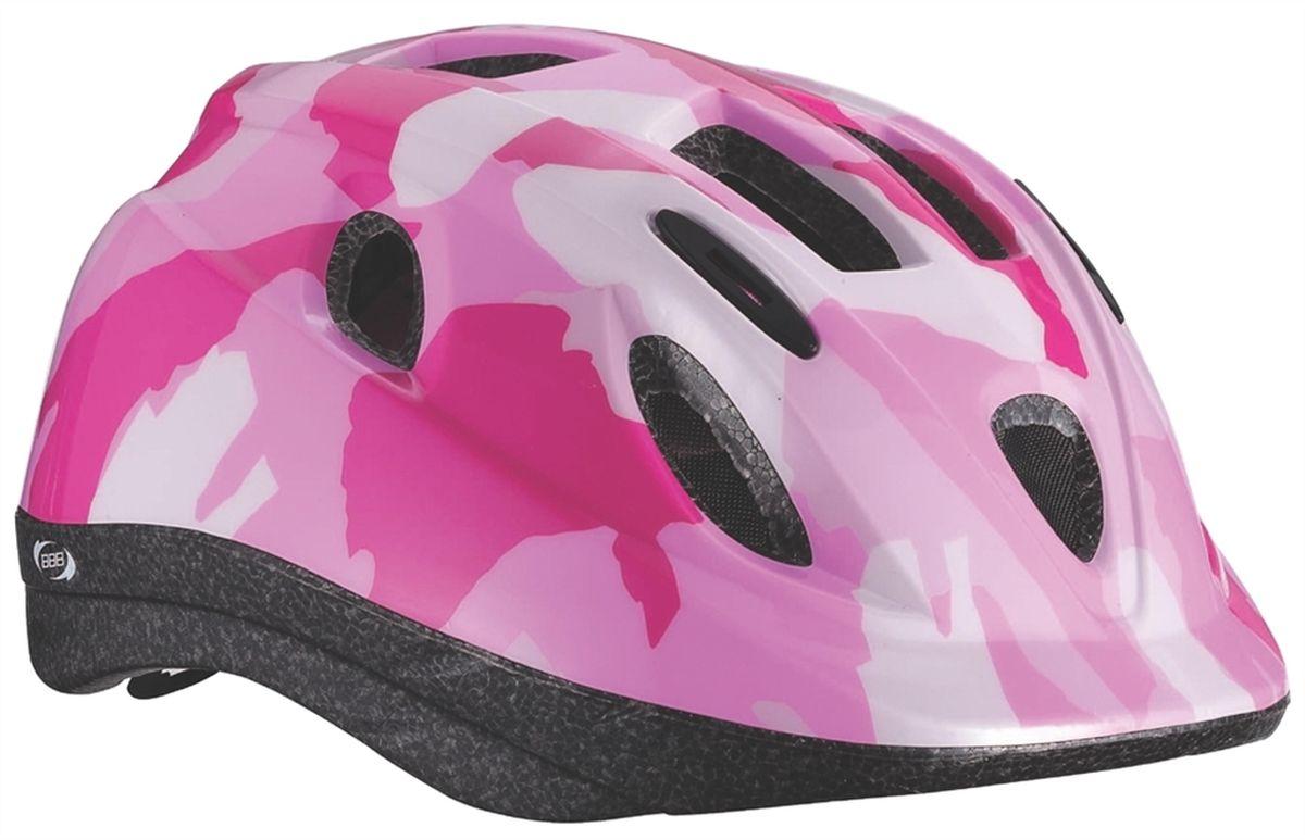 Шлем летний BBB Boogy, цвет: розовый, белый. Размер SBHE-37Детский шлем BBB Boogy предназначен для велосипедистов, скейтбордистов и роллеров.Изделие снабжено настраиваемыми ремешками для максимально комфортной посадки. Система TwistClose - позволяет настроить шлем одной рукой. Увеличенное количество вентиляционных отверстий гарантирует отличную циркуляцию воздуха на разных скоростях движения при сохранении жесткости.Шлем оснащен съемными мягкими накладками с антибактериальными свойствами.Внутренняя часть изделия изготовлена из пенополистирола. Ее роль заключается в рассеивании энергии при ударе, что защищает голову. Верхняя часть шлема, выполненная из прочного пластика, препятствует разрушению изделия, защищает шлем от прокола и позволять ему скользить при ударах. Способность шлема скользить по поверхности является важной его характеристикой, так как при падении движение уменьшается не сразу, а постепенно, снижая тем самым нагрузку на голову и шею.Надежный шлем с ярким дизайном имеет светоотражающие наклейки на задней части изделия. Такой шлем обеспечит высокую степень защиты вашего ребенка. А 12 вентиляционных отверстий сделают катание максимально комфортным.Размер: S. Обхват головы ребенка 48-54 см.Гид по велоаксессуарам. Статья OZON Гид