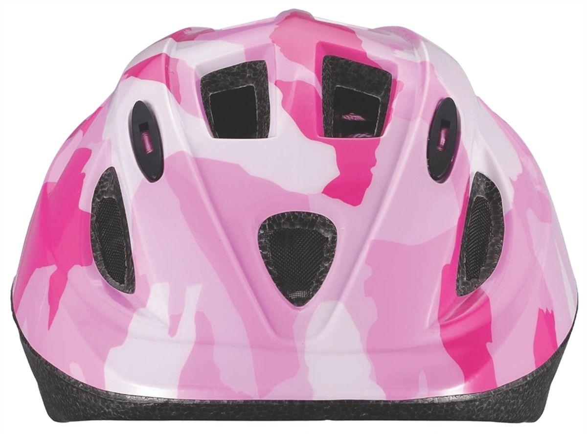 """Детский шлем BBB """"Boogy"""" предназначен для   велосипедистов, скейтбордистов и роллеров.  Изделие снабжено настраиваемыми ремешками для   максимально комфортной посадки. Система TwistClose -   позволяет настроить шлем одной рукой. Увеличенное   количество вентиляционных отверстий гарантирует   отличную циркуляцию воздуха на разных скоростях движения   при сохранении жесткости.  Шлем оснащен съемными мягкими накладками с   антибактериальными свойствами.  Внутренняя часть изделия изготовлена из пенополистирола.   Ее роль заключается в рассеивании энергии при ударе, что   защищает голову. Верхняя часть шлема, выполненная из   прочного пластика, препятствует разрушению изделия,   защищает шлем от прокола и позволять ему скользить при   ударах. Способность шлема скользить по поверхности является   важной его характеристикой, так как при падении движение   уменьшается не сразу, а постепенно, снижая тем самым   нагрузку на голову и шею.  Надежный шлем с ярким дизайном имеет светоотражающие   наклейки на задней части изделия.   Такой шлем обеспечит высокую степень защиты вашего   ребенка. А 12 вентиляционных отверстий сделают   катание максимально комфортным.  Размер: S. Обхват головы ребенка 48-54 см.    Гид по велоаксессуарам. Статья OZON Гид"""