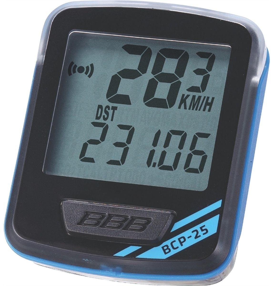 Велокомпьютер BBB NanoBoard, цвет: черный, синий, 7 функций