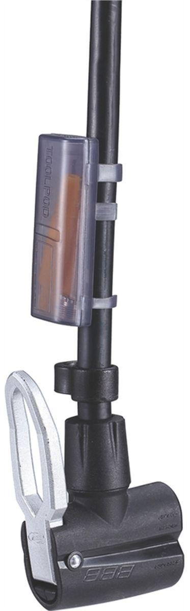 """Напольный насос BBB """"AirStorm Steel Pump"""" выполнен из прочного алюминия. Точный манометр отображает давление как в bar, так и в psi. Эргономичная ручка-бумеранг. Естественный хват для увеличенной мощности и вставки из материала kraton для дополнительного комфорта. Алюминиевый корпус общей длиной 70 cм. Насадка DualHead с фиксатором под большой палец.Прочное и устойчивое основание выполнено из композитного материала.  Давление до 10 bar/145 psi."""