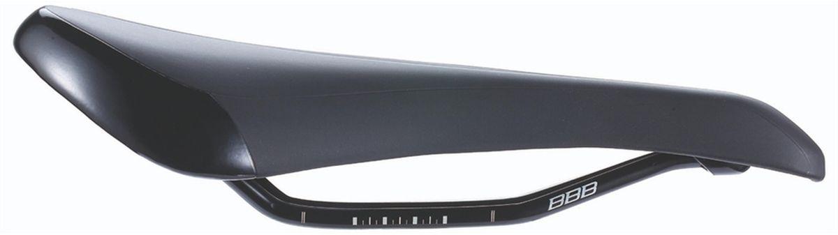 """BBB """"Spectrum 145"""" - универсальное седло с подкладкой увеличенной толщины. Анатомический вырез обеспечивает равномерное распределение  давления для комфорта на шоссе и на трейлах. Шоссейное/MTB-седло подойдет для активного катания.  Подходит как для мужчин, так и для женщин. Вес: 340 грамм. Прочные рельсы со шкалой регулировки. Усиление стекловолокном. Легкая пена средней плотности для комфорта на шоссе и на трейлах. Прочное синтетическое покрытие. Водонепроницаемое. Размер: 145 х 270 мм"""