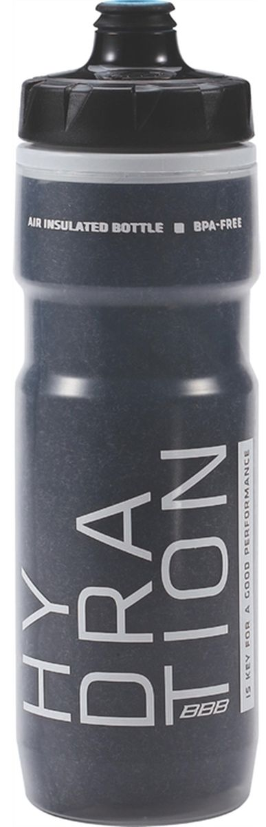 Фляга велосипедная BBB ThermoTank AC, цвет: черный, 500 млBWB-52Термофляга BBB ThermoTank AC с двойными стенками и теплоизоляцией из материала 3M сохраняет напиток прохладным вдвое дольше стандартной фляги. Также дольше удерживает температуру горячих напитков. Не содержит вредных примесей-BPA Специальный клапан AutoClose всегда открыт, но на велосипеде закрыт. Из фляги легко пить, жидкость не проливается при установке на велосипед. Можно заблокировать клапан при необходимости. Широкое горлышко обеспечивает легкую чистку и наполнениеМожно мыть в посудомоечной машине.