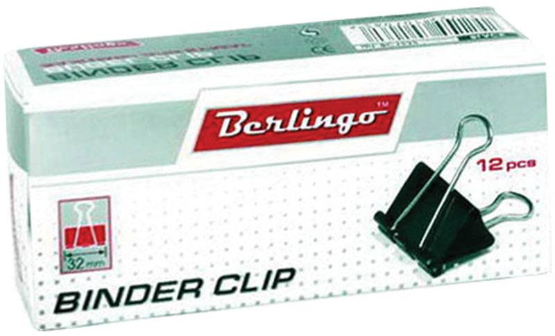 Berlingo Зажим для бумаг ширина 32 мм 12 штBC1232Зажим для бумагBerlingo предназначен для скрепления бумажных носителей.Зажим выполнен из стали. В упаковке 12 зажимов черного цвета. Они надежно и легко скрепляют, не деформируют бумагу, не оставляют на ней следов.