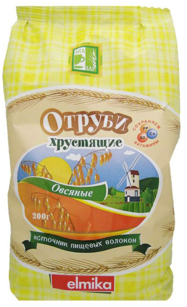Диадар Отруби хрустящие Овсяные, 200 г диет марка отруби хрустящие пшеничные с морской капустой 200 г