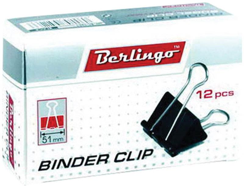 Berlingo Зажим для бумаг ширина 51 мм 12 шт -  Скрепки, кнопки, зажимы