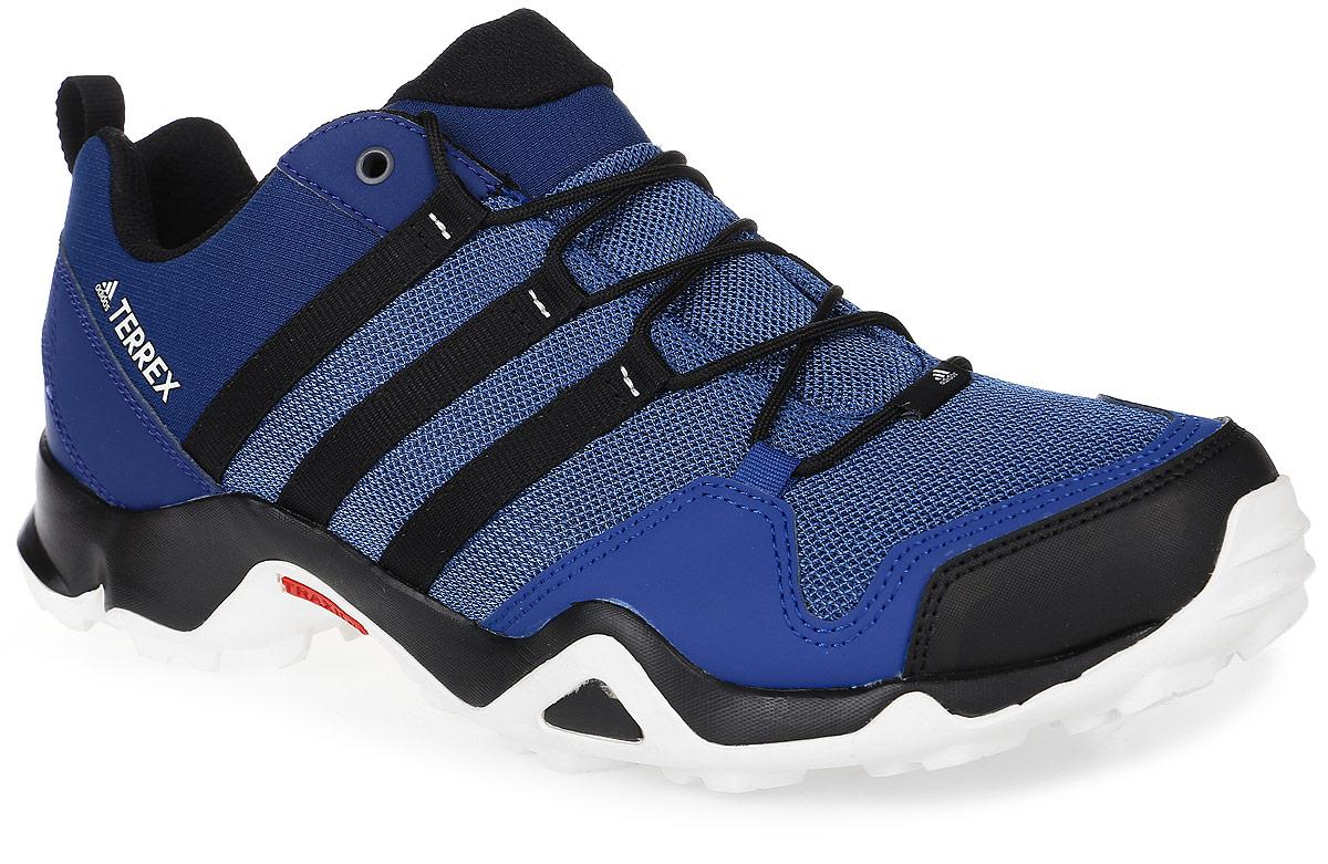 Кроссовки мужские трекинговые adidas Terrex Ax2R, цвет: темно-синий, синий, черный. BB1980. Размер 11 (44,5)BB1980Мужские трекинговые кроссовки adidas Terrex Ax2R выполнены из текстиля и искусственной кожи. Модель оформлена фирменными нашивками и принтом. Шнурки надежно зафиксируют модель на ноге. Ярлычок на заднике упростит надевание модели. Внутренняя поверхность из сетчатого текстиля комфортна при движении. Стелька выполнена из легкого ЭВА-материала с поверхностью из текстиля. Подошва изготовлена из высококачественной резины и дополнена протектором.