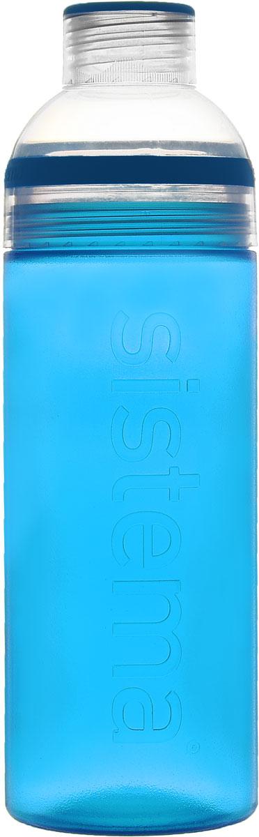 Бутылка для воды Sistema Trio, цвет: голубой, 700 мл840_голубойБутылка для воды Sistema Trio изготовлена из прочного пищевого пластика без содержания фенола и других вредных примесей. Она отлично подходит для разных напитков, особенно для прохладительных со льдом. Конструкция бутылки оригинальна и хорошо продуманна. Помимо крышки, закрывающей широкое горлышко бутылки, в емкости есть еще одна отвинчивающаяся часть. Верхняя часть бутылки откручивается, позволяя поместить в емкость кубики льда или кусочки фруктов. Кроме того, эта верхняя часть может использоваться как кружка для питья.С такой бутылкой вы сможете где угодно насладиться вашими любимыми напитками.