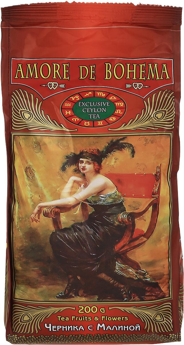 Amore de Bohema Черника с малиной черный листовой чай, 200 г