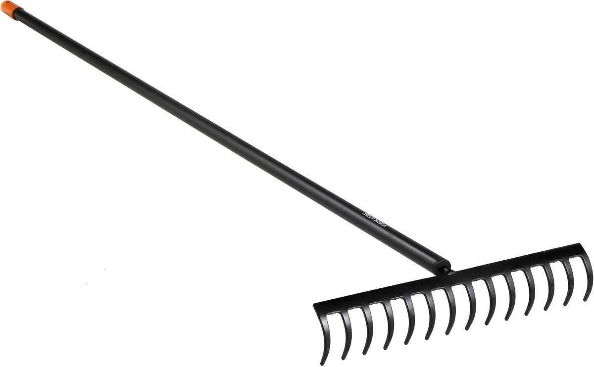 Грабли Fiskars Solid, 154 см1016036Универсальные грабли Fiskars Solid подходят для предпосадочной подготовки грунта, а также для других заданий по саду. Головка выполнена из закаленной борсодержащей стали. Алюминиевая ручка обеспечивает надежный и удобный хват. На конце имеется отверстие для подвешивания инструмента. Длина грабель: 154 см. Ширина: 35,8 см.